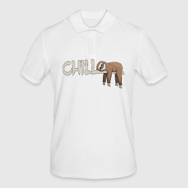 Chill Your life is lazy Faultier hip gift - Men's Polo Shirt