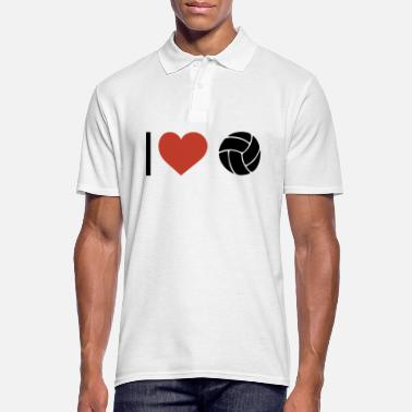 Sports I heart volleyball sport - Men's Polo Shirt