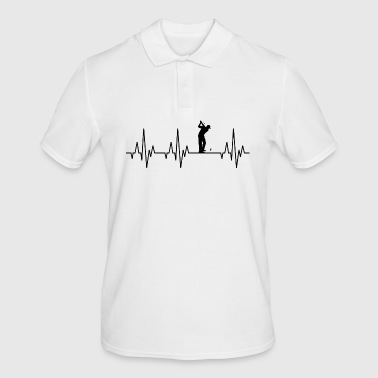 Heartbeat ECG Golf Golfer Golfer Golf Course - Men's Polo Shirt