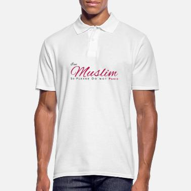 Dont Panic In Muslim So Please Dont Panic - Men's Polo Shirt