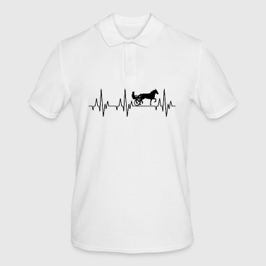 Heartbeat ECG harness racing horse racing horse - Men's Polo Shirt
