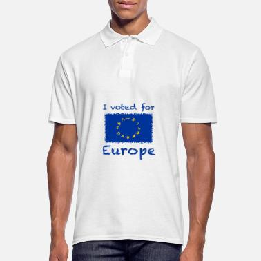 I voted for Europe - Men's Polo Shirt