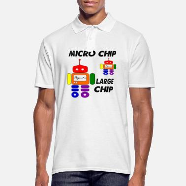 Chip micro chip large chip - Men's Polo Shirt