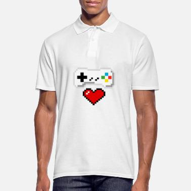 Gamer With Heart - 8-bit - Mannen poloshirt