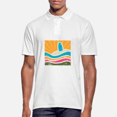 Sand Surfboard in the sand - Men's Polo Shirt