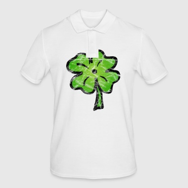 Shamrock lucky Ireland vintage - Men's Polo Shirt