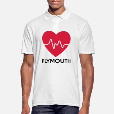 Plymouth heart Plymouth - Men's Polo Shirt