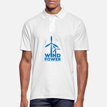 Global Wind power environmental protection gift environment - Men's Polo Shirt