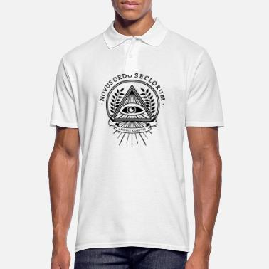 Freemason illuminati conspiracy eye pyramid freemason - Men's Polo Shirt