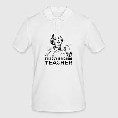 Teacher. Great teacher. Teachers gift - Men's Polo Shirt