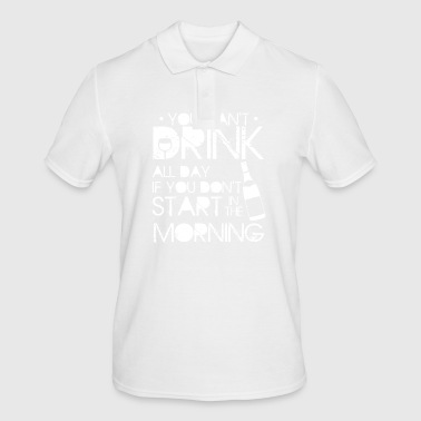 YOU CAN DRINK ALL DAY - FUNNY BARTENDER SHIRT - Men's Polo Shirt
