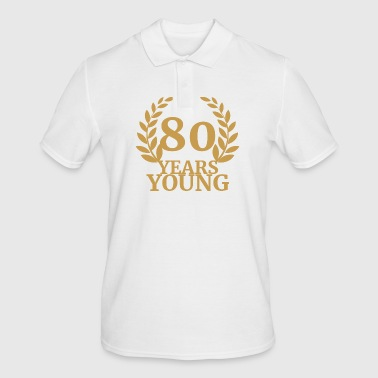80. Birthday: 80 Years Young - Men's Polo Shirt