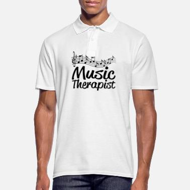 Therapist Music therapist, music therapist - Men's Polo Shirt