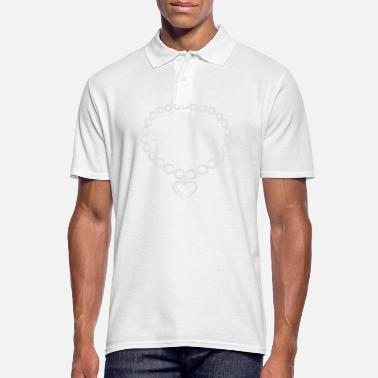 Necklace pearl necklace - Men's Polo Shirt