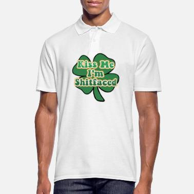 Kiss Me Im Irish Kiss Me I'm Irish and Shitfaced - Men's Polo Shirt
