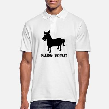 Donkey talking donkey - Men's Polo Shirt