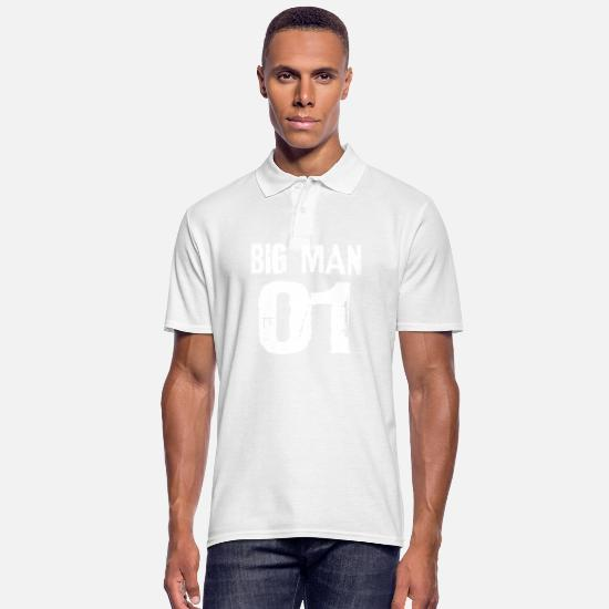 Love Polo Shirts - Big man, big man - Men's Polo Shirt white