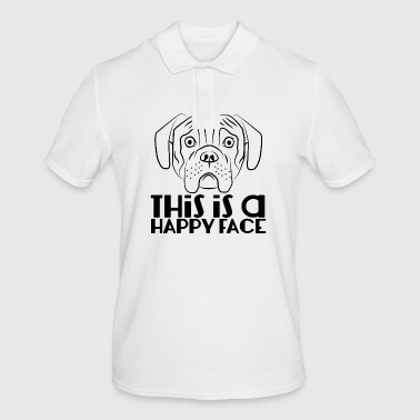 Dog / Boxer: This Is A Happy Face - Men's Polo Shirt