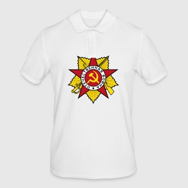 Communistische Hamer Sickle Badge - Mannen poloshirt