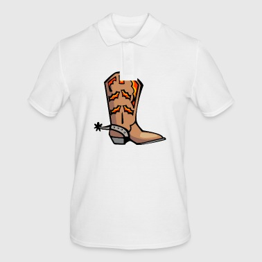 FIRE  COWBOY BOOTS - Men's Polo Shirt