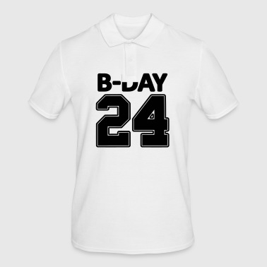 24 number number for the 24th birthday football jersey - Men's Polo Shirt