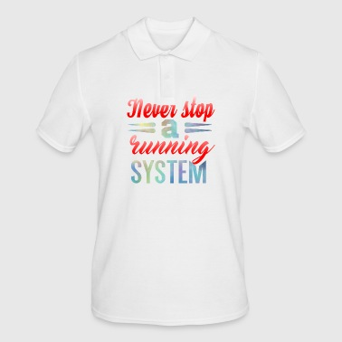 Never Stop Course à pied - Polo Homme