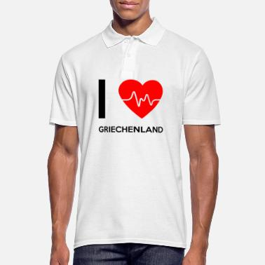 I Love I Love Greece - I love Grèce - Polo Homme