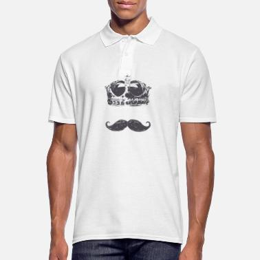 Wacky king Moustache - Men's Polo Shirt