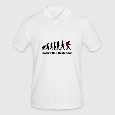 rockandroll evolution, rock, guitar - Men's Polo Shirt