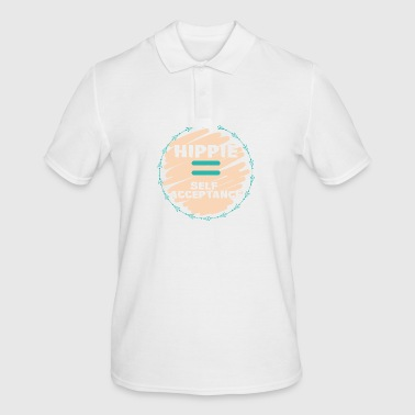Hippie / Hippies: Hippie = Self Acceptance - Men's Polo Shirt