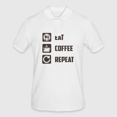 Eat Coffee Repeat - Men's Polo Shirt