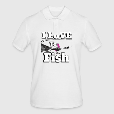 I love to Jerk - Jerk Fish Fishing - Fishyworm - Men's Polo Shirt