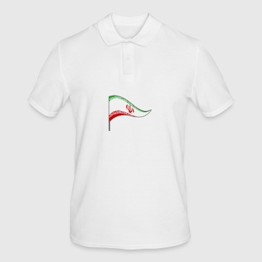 Iran Tehran flag country colors flag Persian - Men's Polo Shirt