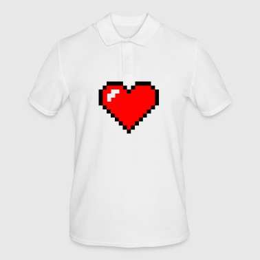 pixel heart - Men's Polo Shirt
