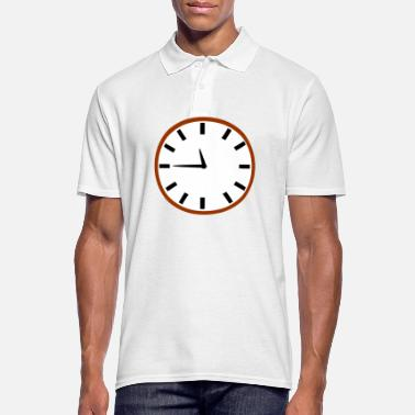 Clock Rocket Clock - Poloskjorte for menn