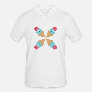 Ice Cream Ice cream with a happy face Sweet - Men's Polo Shirt