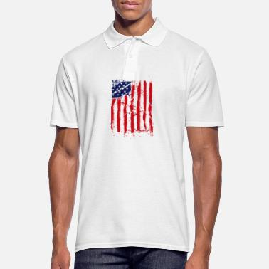 American Flag American flag USA American Patriot Flag - Men's Polo Shirt