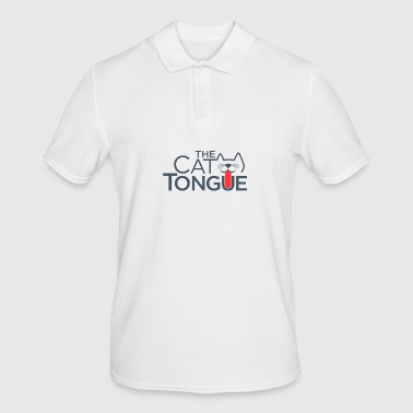 Cat with Tongue - Men's Polo Shirt