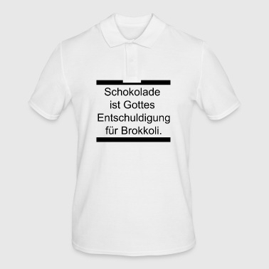 Chocolate is ... - Men's Polo Shirt