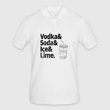 VODKA SODA ICE LIME PARTY SQUAD FAN T-SHIRT TEA - Men's Polo Shirt