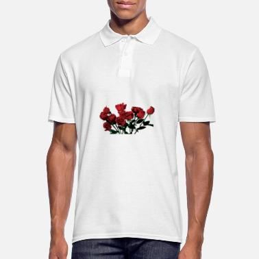 Red-rose Roses red roses - Men's Polo Shirt