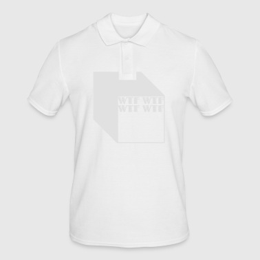 wtf logo abstract cubes - Polo da uomo
