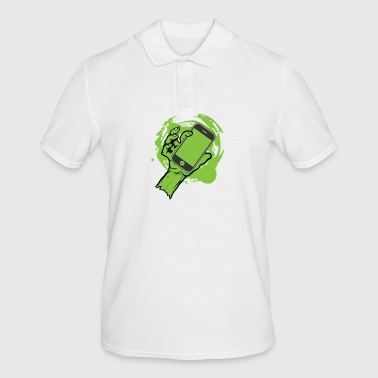 zombie mobile phone - Men's Polo Shirt