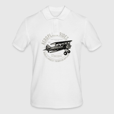 Aeroplane airplane fly flying lifting engine flight - Men's Polo Shirt