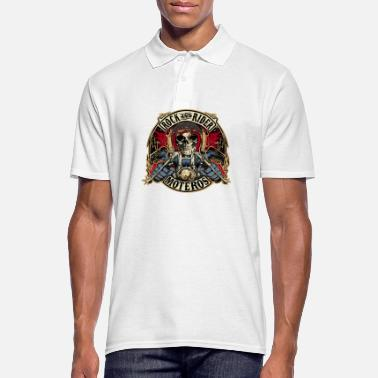 Rock And Rider Rock And Rider Moteros Skull Color - Camiseta polo hombre