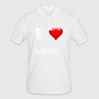 I love metal metalhead gift idea music - Men's Polo Shirt