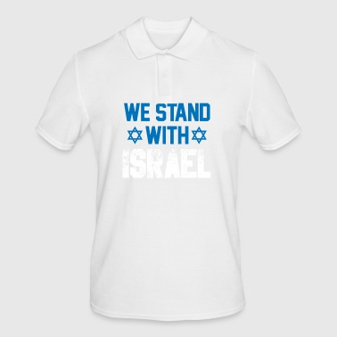 we stand with Israel - Gift Jew Democracy - Men's Polo Shirt