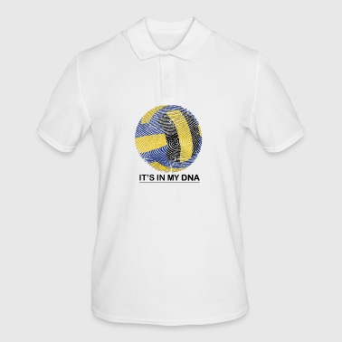 Volleybal in mijn DNA-fingerprint Gift - Mannen poloshirt