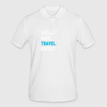 Funny Work Safe Travel Repeat Party Gift - Men's Polo Shirt