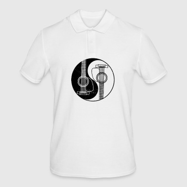 Yin Yang Acoustic Guitar Music Gift - Men's Polo Shirt